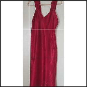 Red Satin Night Gown